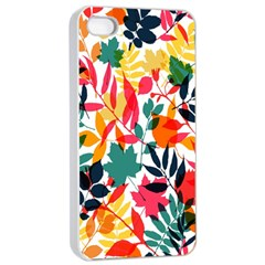 Seamless Autumn Leaves Pattern  Apple Iphone 4/4s Seamless Case (white) by TastefulDesigns