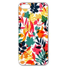 Seamless Autumn Leaves Pattern  Apple Seamless Iphone 5 Case (clear) by TastefulDesigns