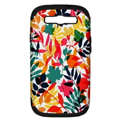 Seamless Autumn Leaves Pattern  Samsung Galaxy S Iii Hardshell Case (pc+silicone)