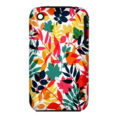 Seamless Autumn Leaves Pattern  Apple Iphone 3g/3gs Hardshell Case (pc+silicone) by TastefulDesigns
