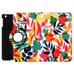 Seamless Autumn Leaves Pattern  Apple Ipad Mini Flip 360 Case by TastefulDesigns