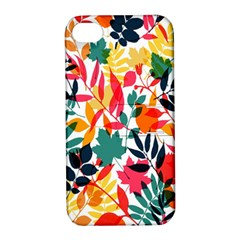 Seamless Autumn Leaves Pattern  Apple Iphone 4/4s Hardshell Case With Stand by TastefulDesigns