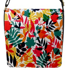 Seamless Autumn Leaves Pattern  Flap Messenger Bag (s)