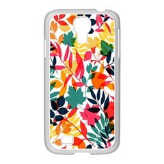 Seamless Autumn Leaves Pattern  Samsung Galaxy S4 I9500/ I9505 Case (white) by TastefulDesigns