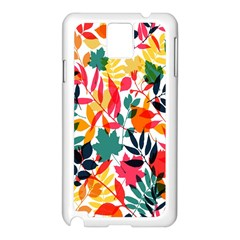 Seamless Autumn Leaves Pattern  Samsung Galaxy Note 3 N9005 Case (white) by TastefulDesigns