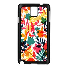 Seamless Autumn Leaves Pattern  Samsung Galaxy Note 3 N9005 Case (black) by TastefulDesigns
