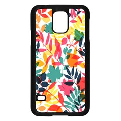 Seamless Autumn Leaves Pattern  Samsung Galaxy S5 Case (black) by TastefulDesigns