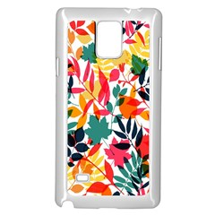 Seamless Autumn Leaves Pattern  Samsung Galaxy Note 4 Case (White) by TastefulDesigns