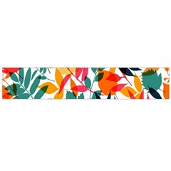 Seamless Autumn Leaves Pattern  Flano Scarf (large)
