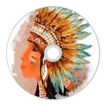 Native American Young Indian Shief  CD Wall Clock