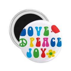Love Peace And Joy  2 25  Magnets