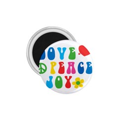Love Peace And Joy  1 75  Magnets