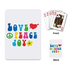 Love Peace And Joy Signs Playing Cards Single Design by TastefulDesigns