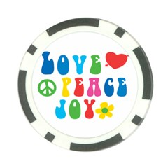 Love Peace And Joy  Poker Chip Card Guards