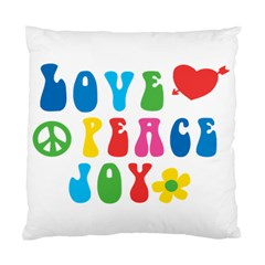 Love Peace And Joy  Standard Cushion Case (two Sides)