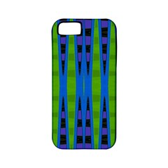 Blue Green Geometric Apple Iphone 5 Classic Hardshell Case (pc+silicone)