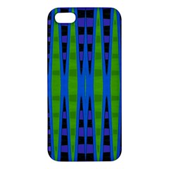 Blue Green Geometric Apple Iphone 5 Premium Hardshell Case