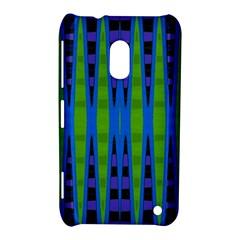 Blue Green Geometric Nokia Lumia 620 by BrightVibesDesign