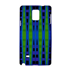 Blue Green Geometric Samsung Galaxy Note 4 Hardshell Case by BrightVibesDesign