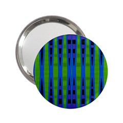 Blue Green Geometric 2 25  Handbag Mirrors