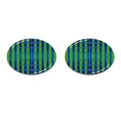 Blue Green Geometric Cufflinks (Oval) by BrightVibesDesign