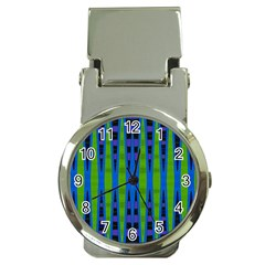 Blue Green Geometric Money Clip Watches