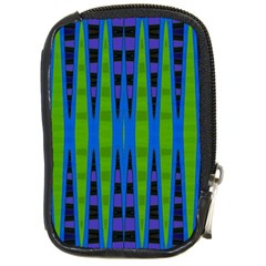 Blue Green Geometric Compact Camera Cases by BrightVibesDesign