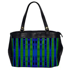 Blue Green Geometric Office Handbags by BrightVibesDesign