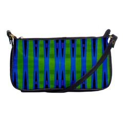 Blue Green Geometric Shoulder Clutch Bags