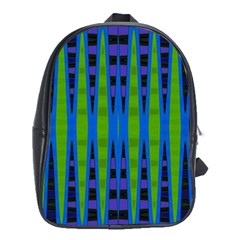 Blue Green Geometric School Bags (xl)