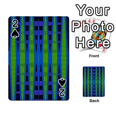 Blue Green Geometric Playing Cards 54 Designs  by BrightVibesDesign