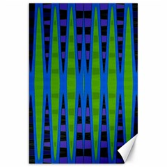 Blue Green Geometric Canvas 20  X 30   by BrightVibesDesign