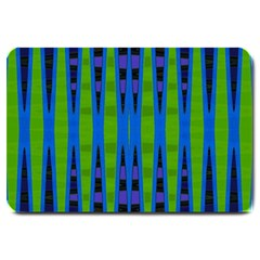 Blue Green Geometric Large Doormat