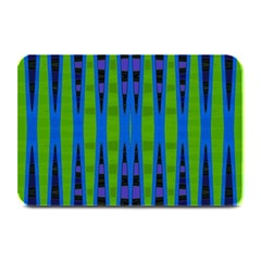 Blue Green Geometric Plate Mats