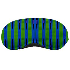 Blue Green Geometric Sleeping Masks by BrightVibesDesign