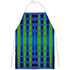 Blue Green Geometric Full Print Aprons