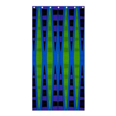 Blue Green Geometric Shower Curtain 36  X 72  (stall)  by BrightVibesDesign