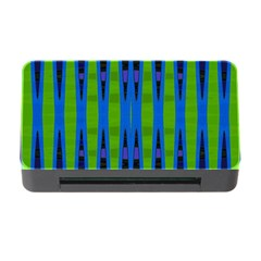 Blue Green Geometric Memory Card Reader With Cf