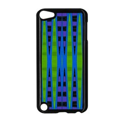 Blue Green Geometric Apple Ipod Touch 5 Case (black)