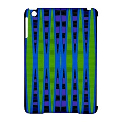 Blue Green Geometric Apple Ipad Mini Hardshell Case (compatible With Smart Cover) by BrightVibesDesign