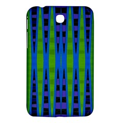 Blue Green Geometric Samsung Galaxy Tab 3 (7 ) P3200 Hardshell Case  by BrightVibesDesign