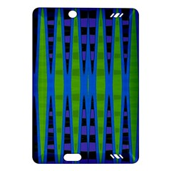 Blue Green Geometric Amazon Kindle Fire Hd (2013) Hardshell Case by BrightVibesDesign