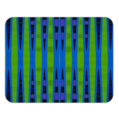 Blue Green Geometric Double Sided Flano Blanket (Large)  by BrightVibesDesign