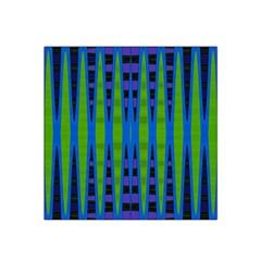 Blue Green Geometric Satin Bandana Scarf