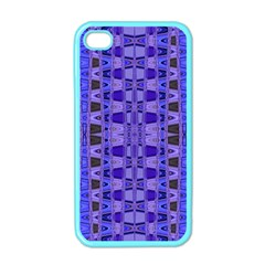 Blue Black Geometric Pattern Apple iPhone 4 Case (Color)
