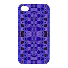Blue Black Geometric Pattern Apple iPhone 4/4S Premium Hardshell Case