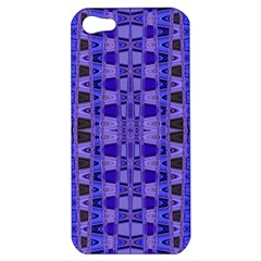 Blue Black Geometric Pattern Apple iPhone 5 Hardshell Case
