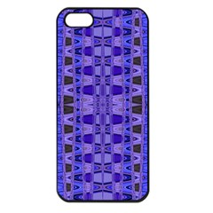 Blue Black Geometric Pattern Apple iPhone 5 Seamless Case (Black)