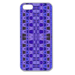 Blue Black Geometric Pattern Apple Seamless iPhone 5 Case (Clear)