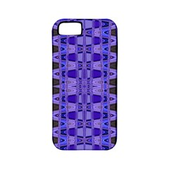 Blue Black Geometric Pattern Apple Iphone 5 Classic Hardshell Case (pc+silicone)